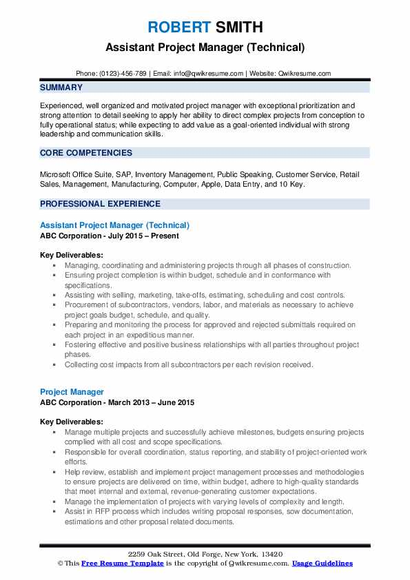 assistant project manager resume samples qwikresume construction pdf best examples noon Resume Assistant Project Manager Construction Resume