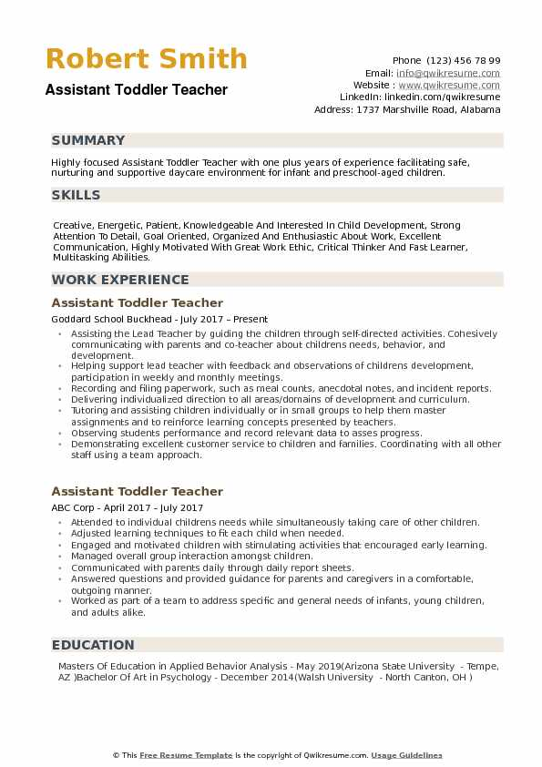 assistant toddler teacher resume samples qwikresume daycare skills for pdf quality Resume Daycare Teacher Skills For Resume