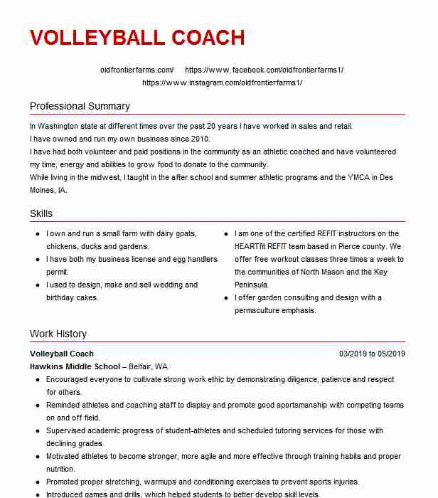 assistant volleyball coach resume example north carolina academy sample high school for Resume Assistant Volleyball Coach Resume