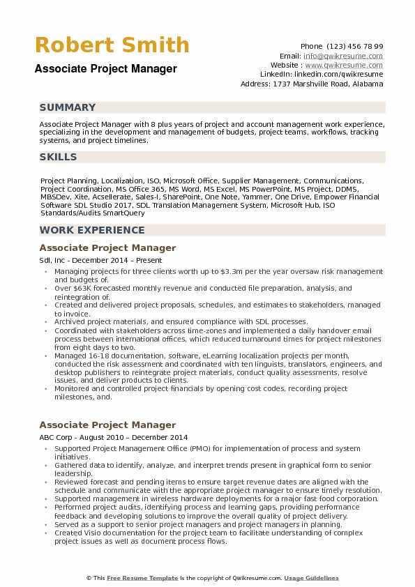 associate project manager resume samples qwikresume summary examples pdf chip kelly Resume Project Manager Resume Summary Examples