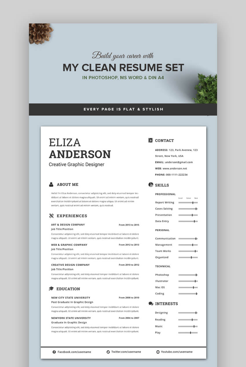 attractive eye catching resume cv templates with stylish aesthetics beautiful my clean Resume Beautiful Resume Templates Download