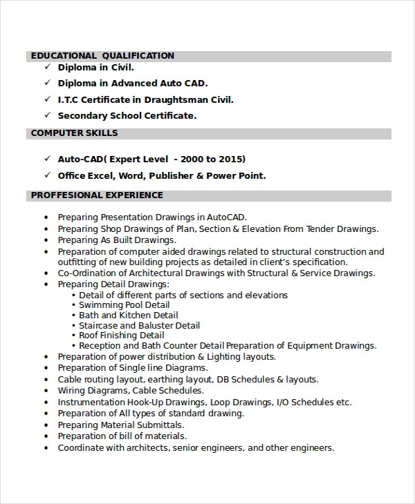 autocad resume template free word pdf document downloads premium templates entry level Resume Entry Level Drafter Resume Sample