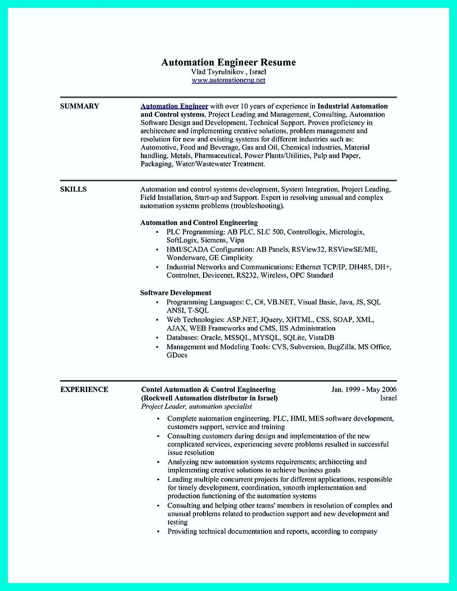 automation engineer resume huroncountychamber collection representative examples sap fico Resume Automation Engineer Resume