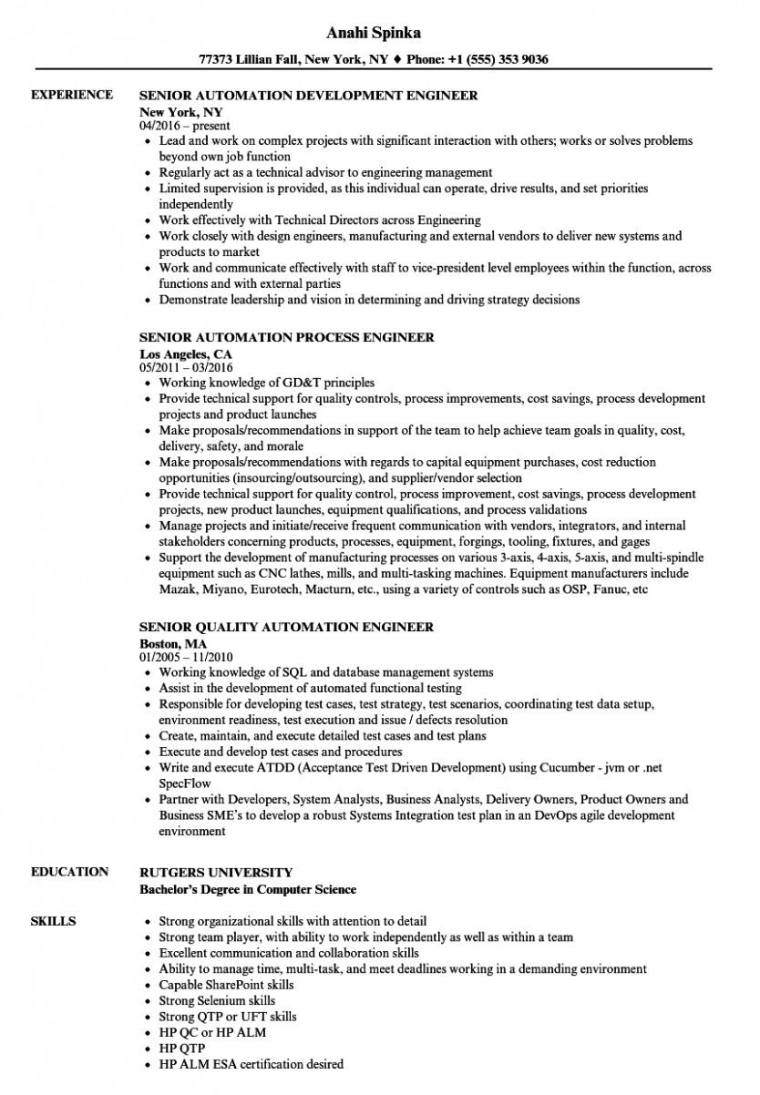 automation engineer resume pdf in examples business analyst pulmonary nurse medical Resume Automation Engineer Resume