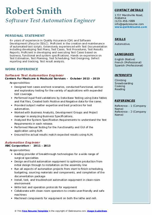 automation engineer resume samples qwikresume pdf pulmonary nurse another word for server Resume Automation Engineer Resume