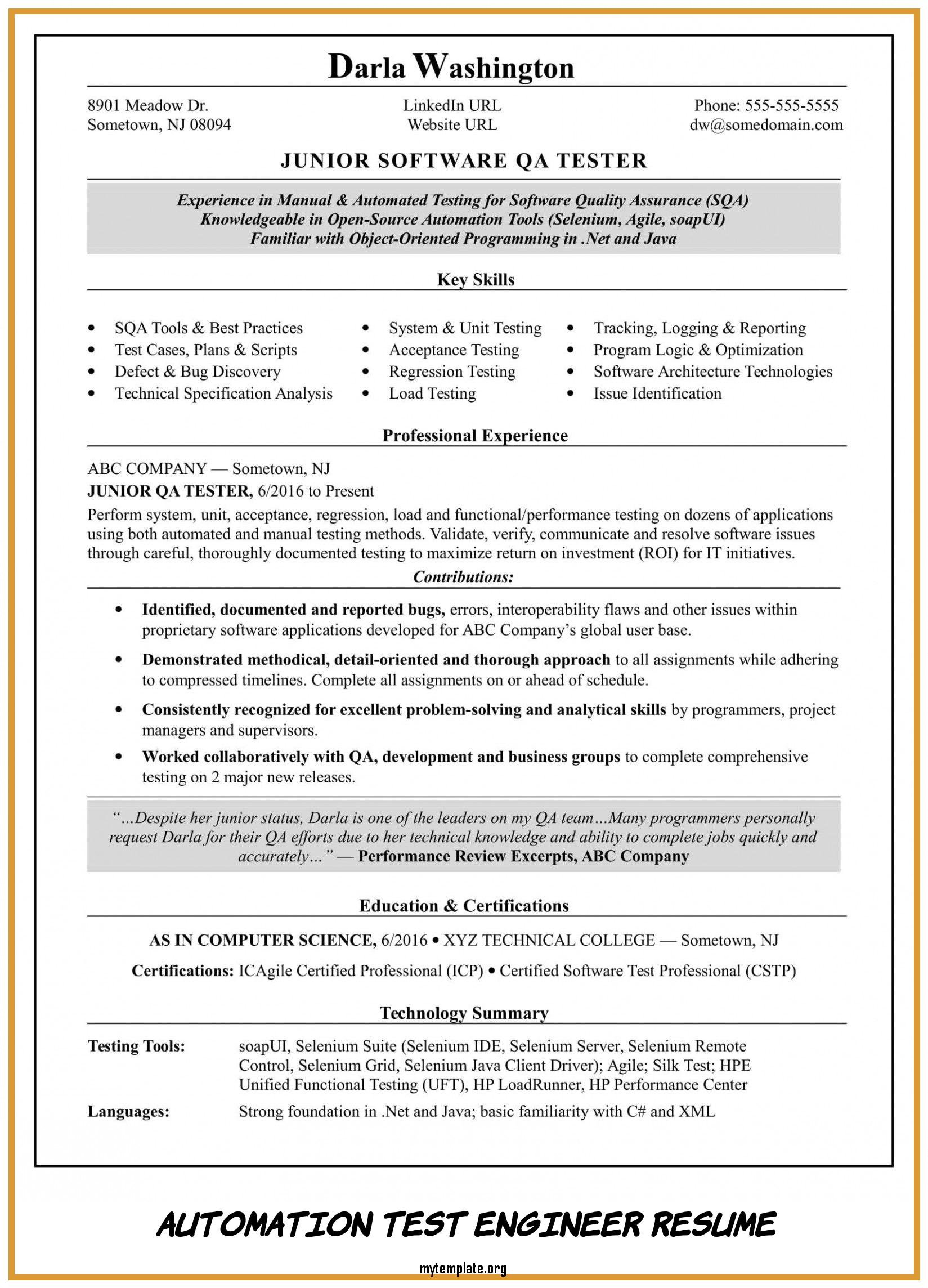 automation test engineer resume free templates tester of take look at pin drilling Resume Automation Tester Resume