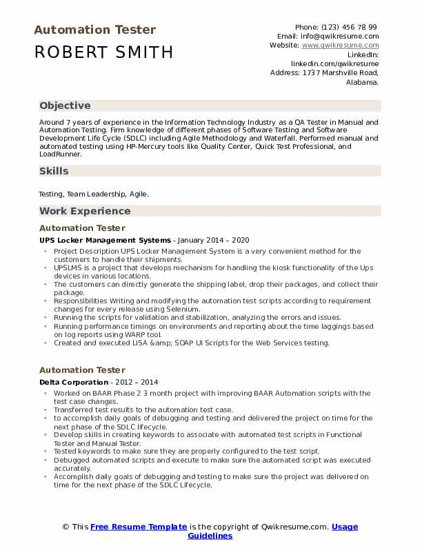 automation tester resume samples qwikresume soapui testing points pdf word version of Resume Soapui Testing Resume Points