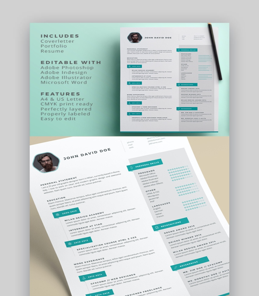 awesome illustrator resume templates with creative cv designs on adobe acqua automation Resume Resume On Adobe Illustrator