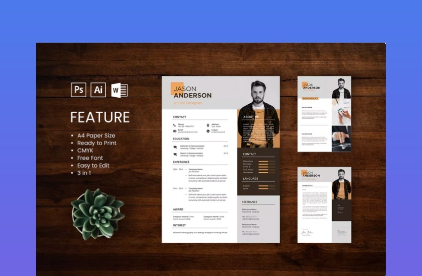 awesome illustrator resume templates with creative cv designs on adobe jason office Resume Resume On Adobe Illustrator