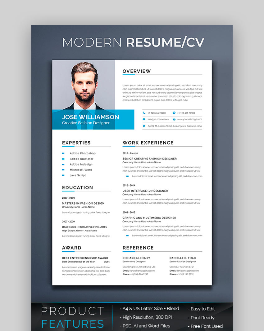 awesome resume cv templates with beautiful layout designs graphicriver account manager Resume Beautiful Resume Templates Download