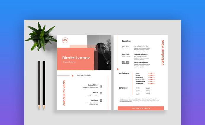 awesome resume cv templates with beautiful layout designs vol modern template examples Resume Beautiful Resume Templates Download