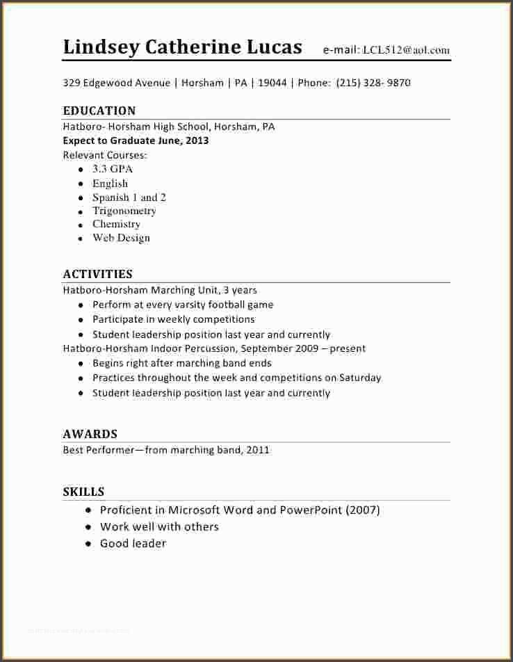 awesome5 first time student resume job examples hobbies good for sample financial service Resume First Time Student Resume
