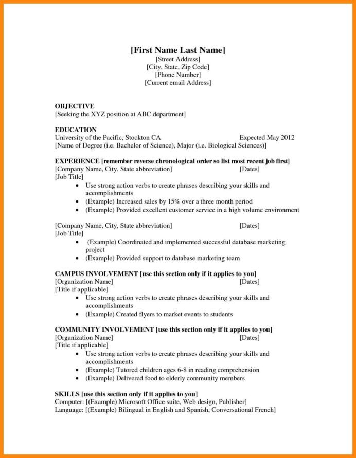 bachelor of science abbreviation resume awesome examples teenage resumes for first job in Resume Abbreviate Months On Resume