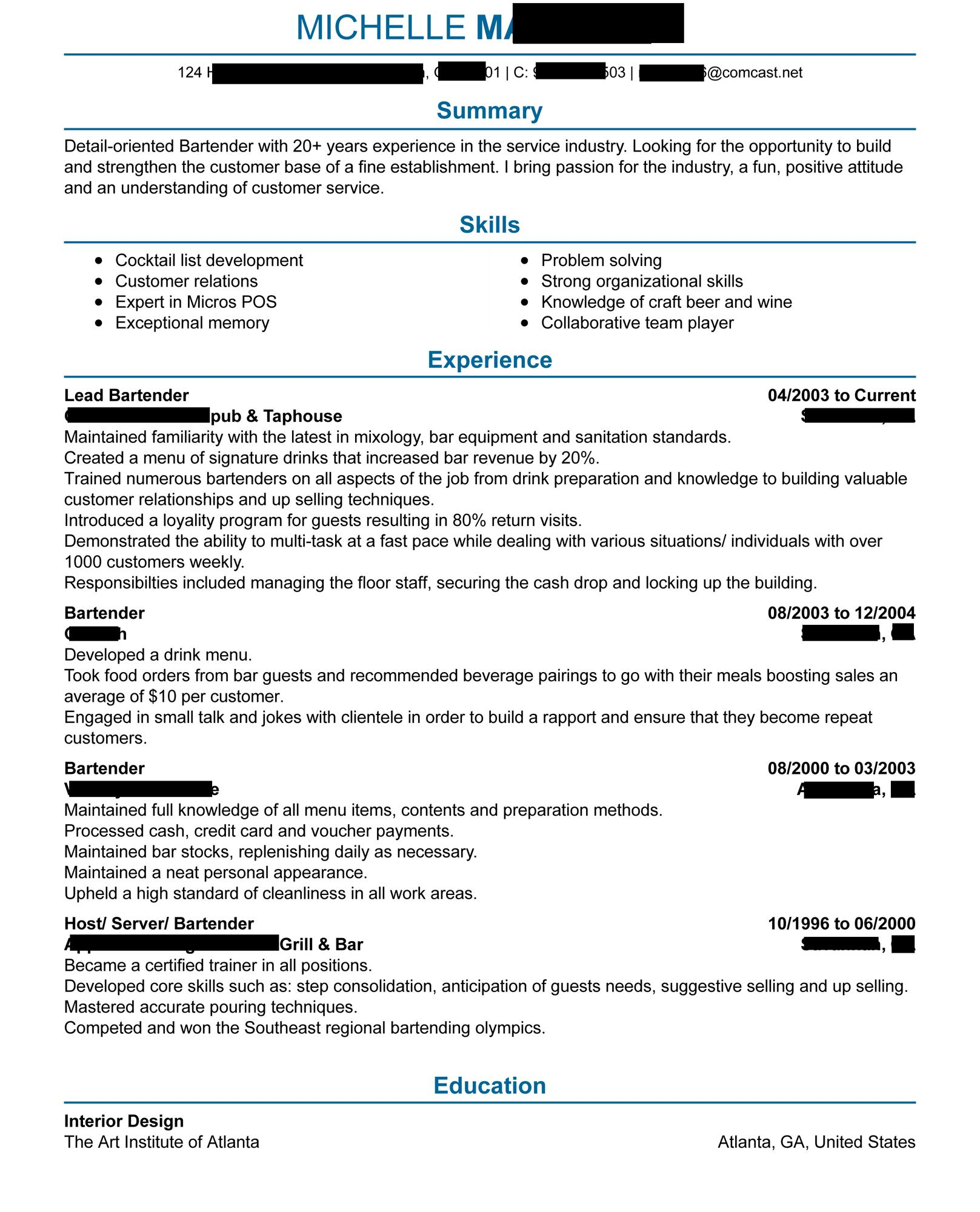 bartender resume any critiques are appreciated resumes skills and qualities oa2jgmcwdvc01 Resume Bartender Skills And Qualities Resume