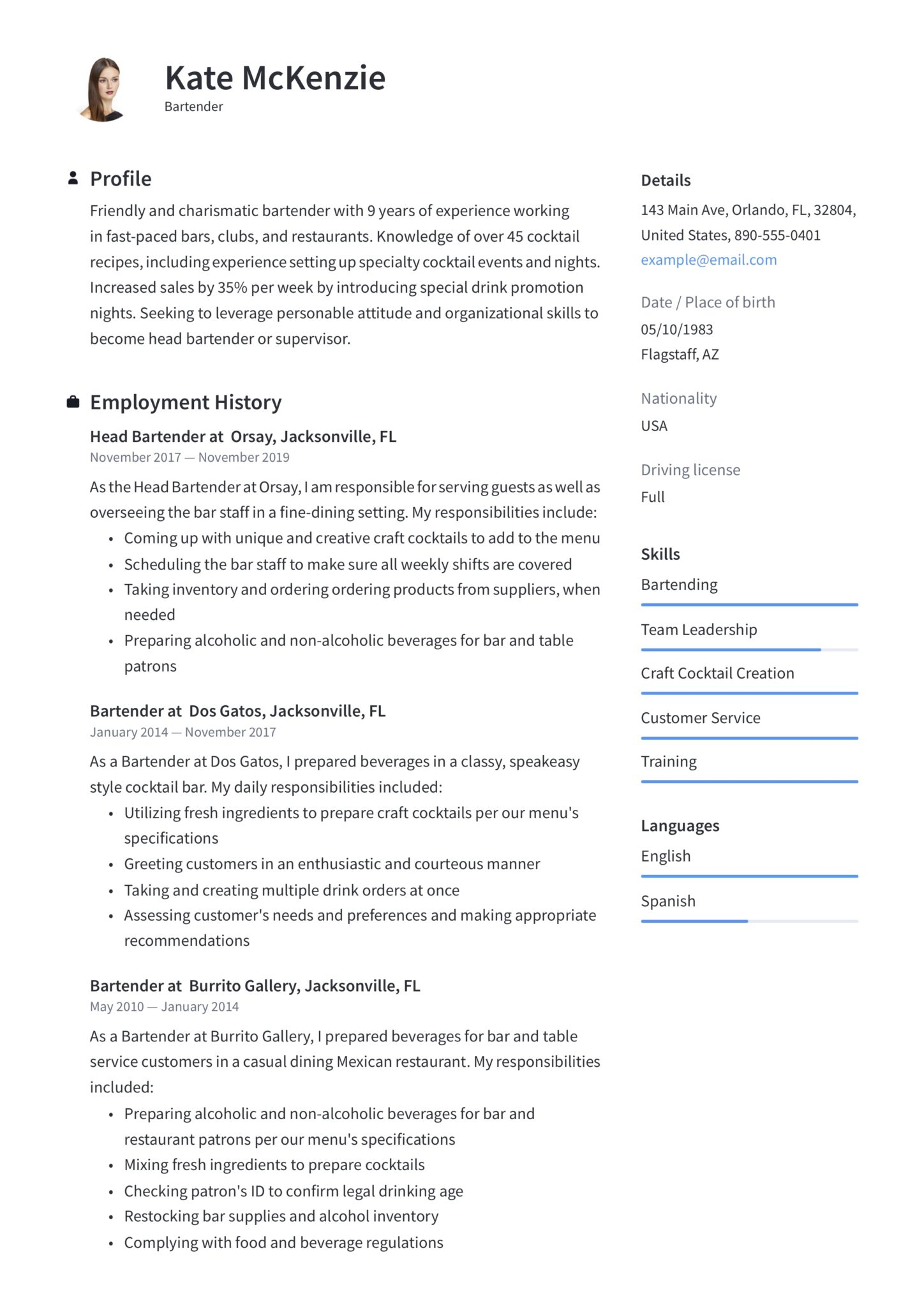 bartender resume guide example downloads pdf word job responsibilities template scaled Resume Bartender Job Responsibilities Resume