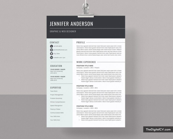 basic and simple resume template cv cover letter in microsoft word free professional Resume Free Outstanding Resume Templates