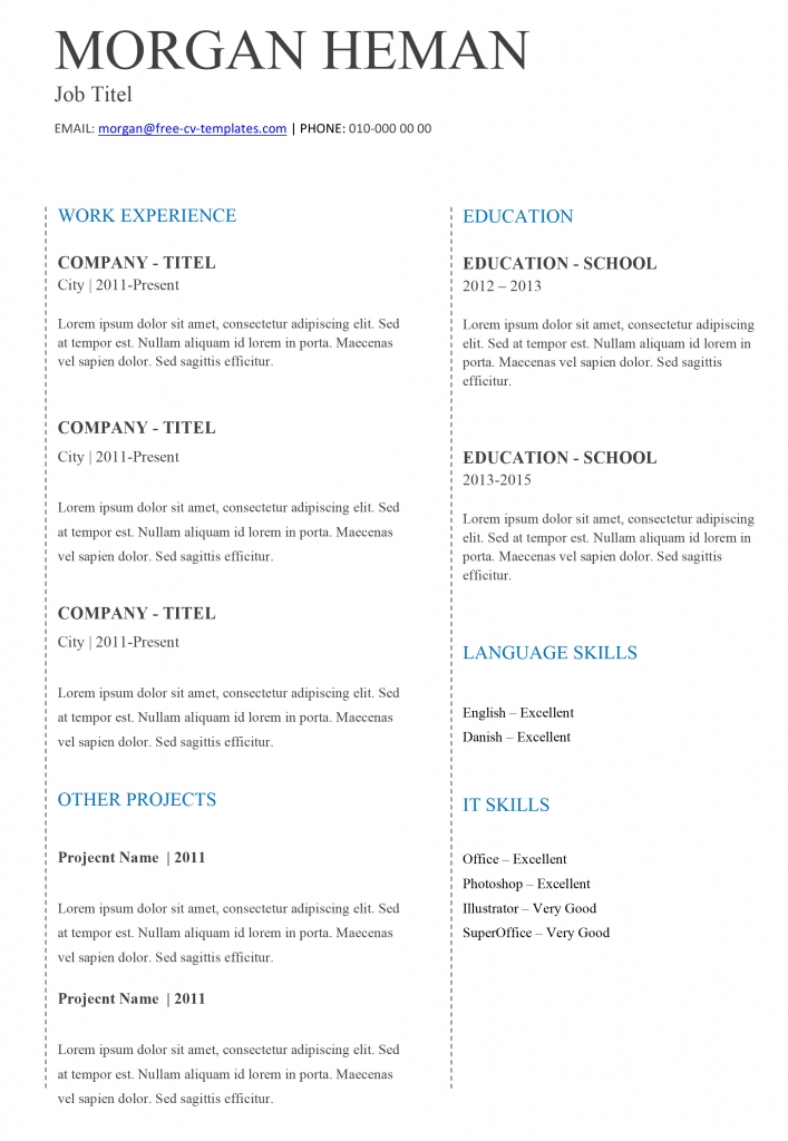 basic cv templates for word land the job with our free simple but effective resume tc Resume Simple But Effective Resume