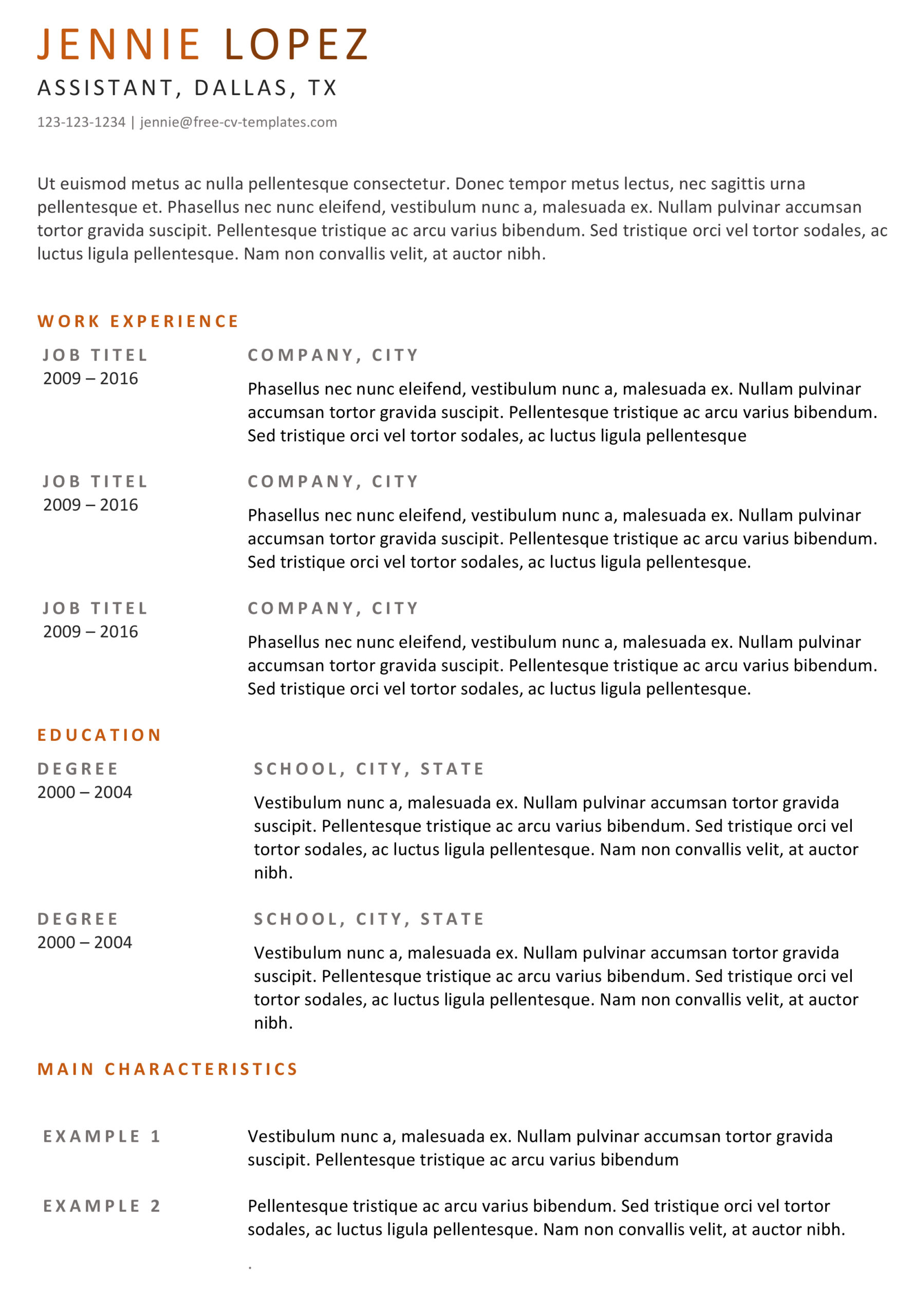 basic cv templates for word land the job with our free simple resume template Resume Simple Resume Template Free Download
