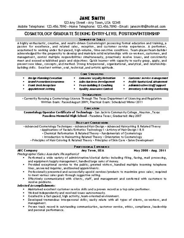 beautician cosmetologist esthetician resume examples template free cosmetology sample Resume Cosmetology Resume Sample