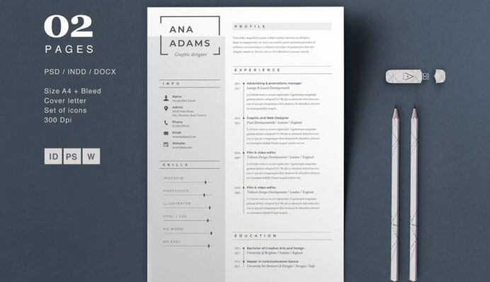 beautiful free resume templates for designers photoshop template pool cleaner worksheet Resume Free Resume Photoshop Templates