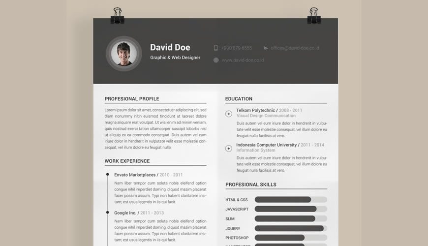 beautiful free resume templates for designers photoshop template qualifications lab Resume Free Resume Photoshop Templates