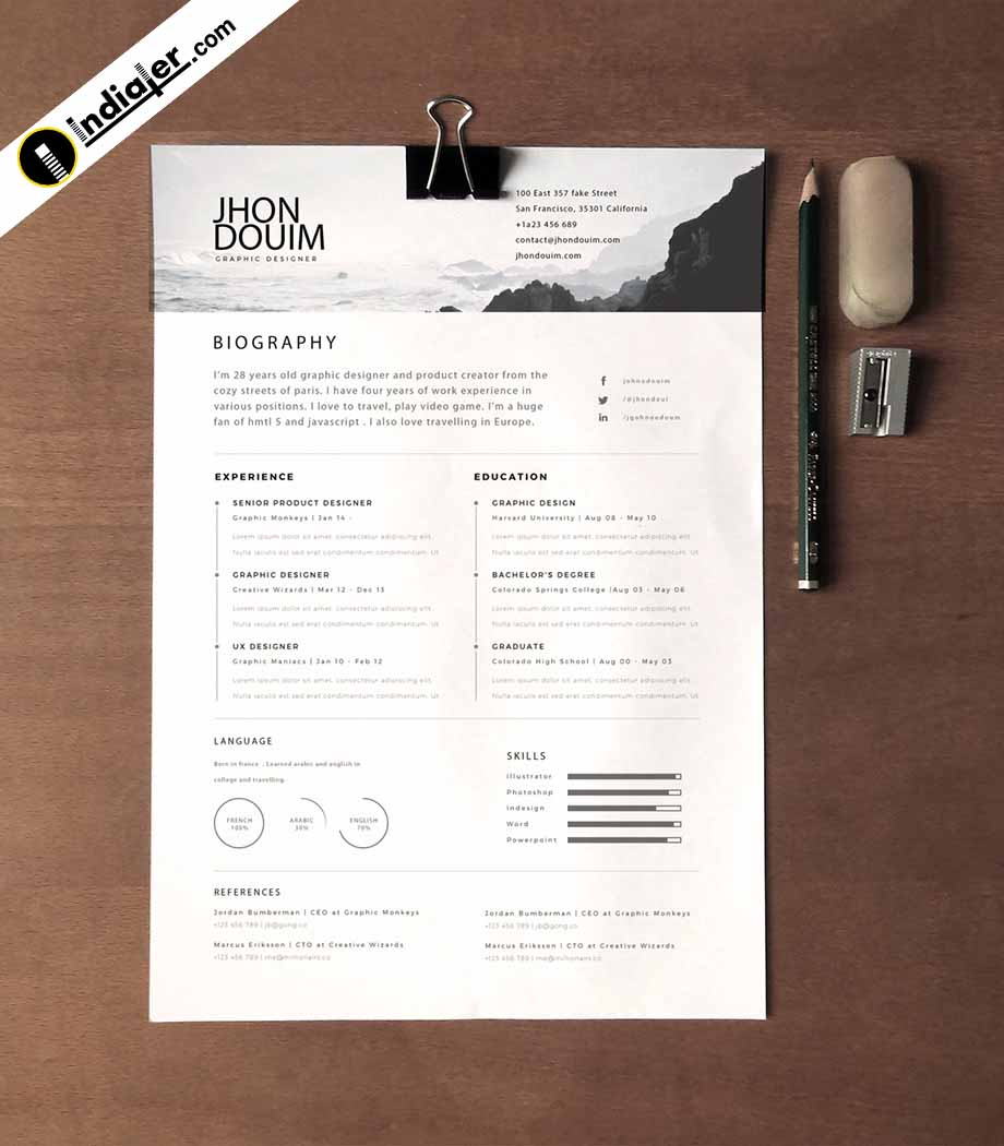 beautiful resume templates free indiater service industry sample template cover letter Resume Beautiful Resume Templates Download