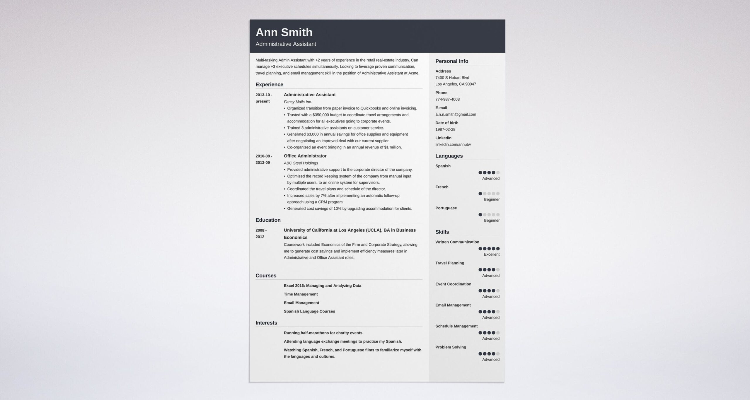 best administrative assistant resume examples summary example questions for references on Resume Administrative Resume Summary Examples