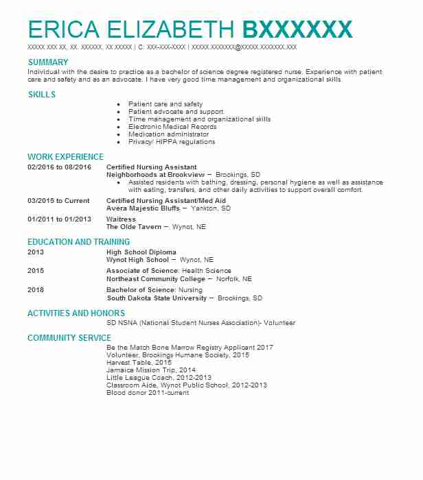 best certified nursing assistant resume example livecareer entry level child oracle Resume Entry Level Certified Nursing Assistant Resume