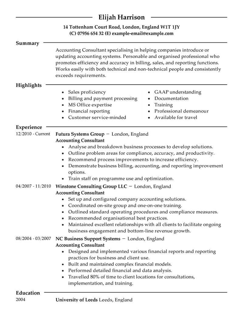 best consultant resume example livecareer consulting specific finance modern design Resume Consulting Specific Resume