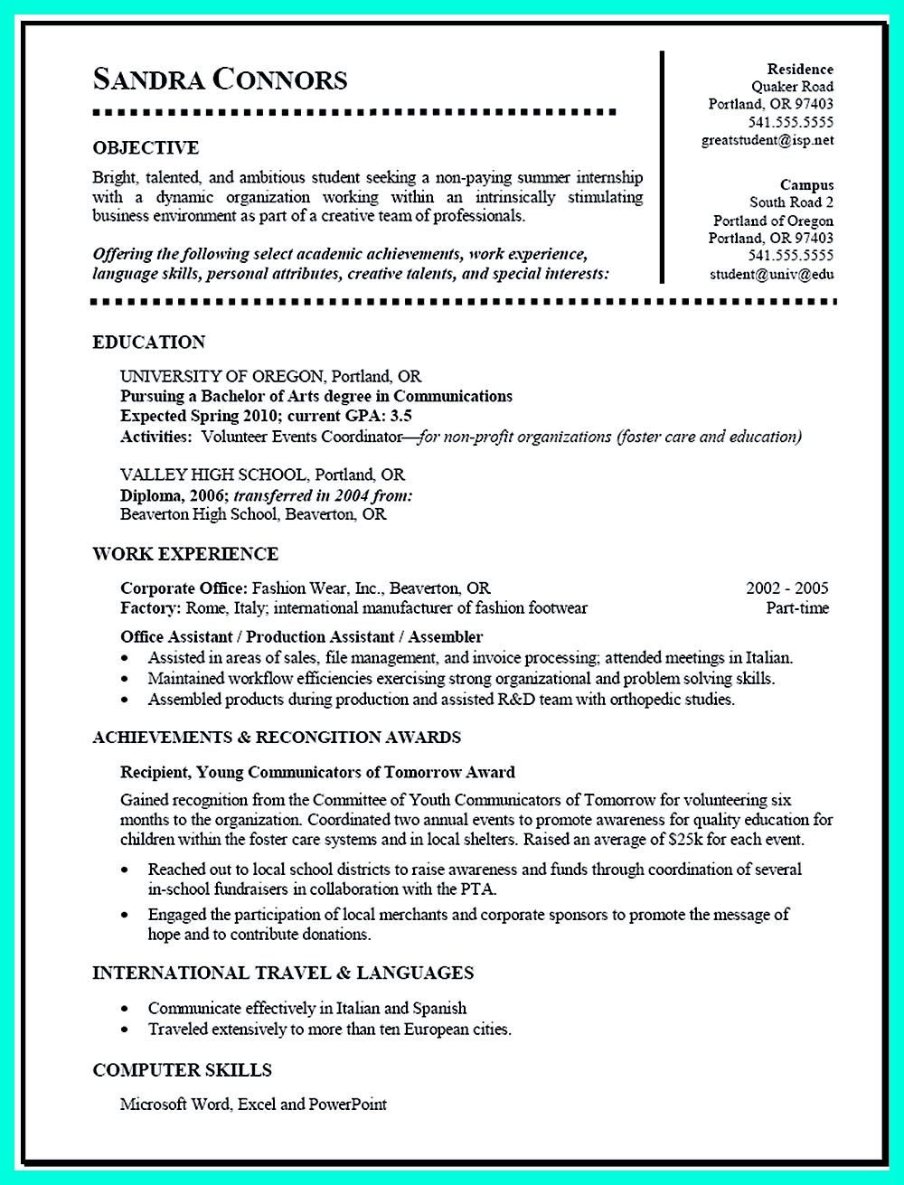 best current college student resume with no experience examples job for fresh graduate Resume Resume For Fresh Graduate Seeking Any Job