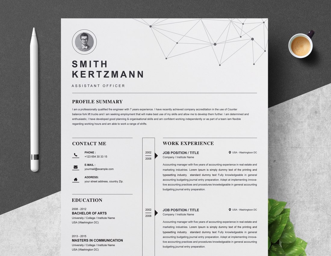 best cv resume templates design shack modern template examples free professional for Resume Modern Resume Template Examples