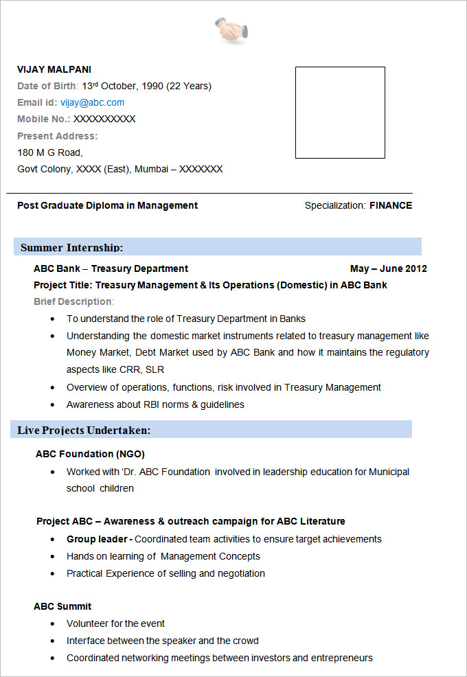 best finance resume sample templates wisestep format for mba experienced examples broad Resume Resume Format For Mba Finance Experienced