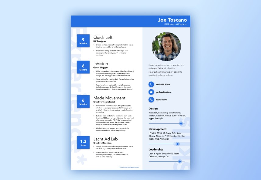 best free material design resume and cv templates uideck template registered respiratory Resume Material Design Resume Template Free
