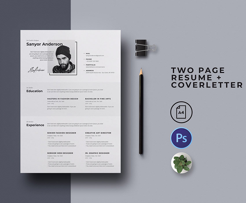 best free modern resume templates clean cv design formats and cover letter phd for Resume Free Resume Templates 2020 Download