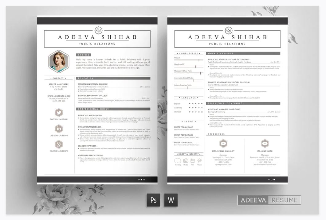 best free resume cv templates for word theme matching cover letter and registered nurse Resume Free Matching Cover Letter And Resume Templates