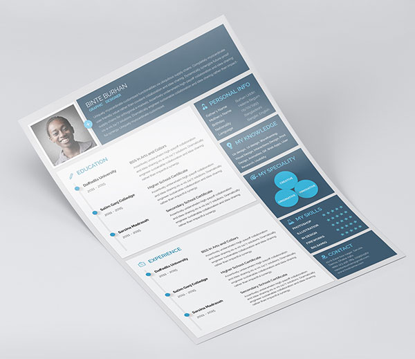 best free resume cv templates in indesign word formats material design template style Resume Material Design Resume Template Free