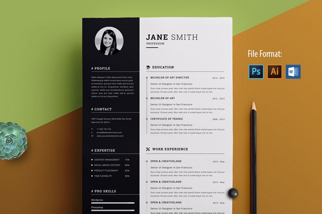 best free resume templates for word design shack awesome microsoft clean creative Resume Free Awesome Resume Templates Microsoft Word