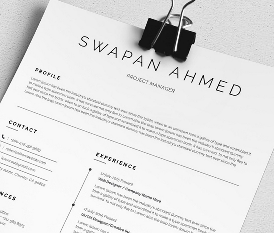 best free resume templates for word design shack minimalist template minimal accounting Resume Minimalist Resume Template