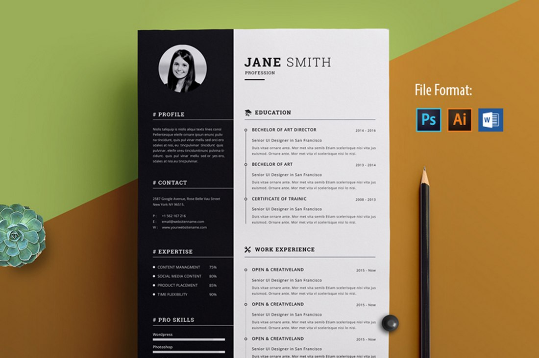 best free resume templates for word design shack modern clean creative template physical Resume Free Modern Resume Templates For Word