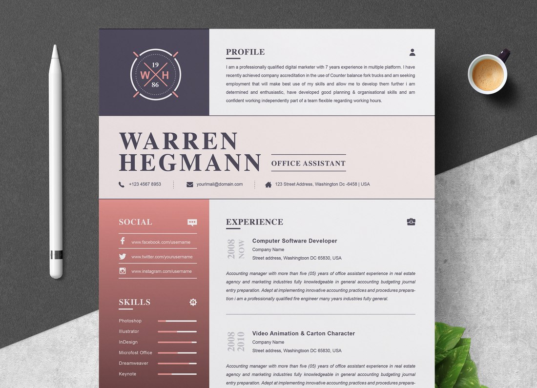 best free resume templates for word design shack modern colorful template physical Resume Free Modern Resume Templates For Word