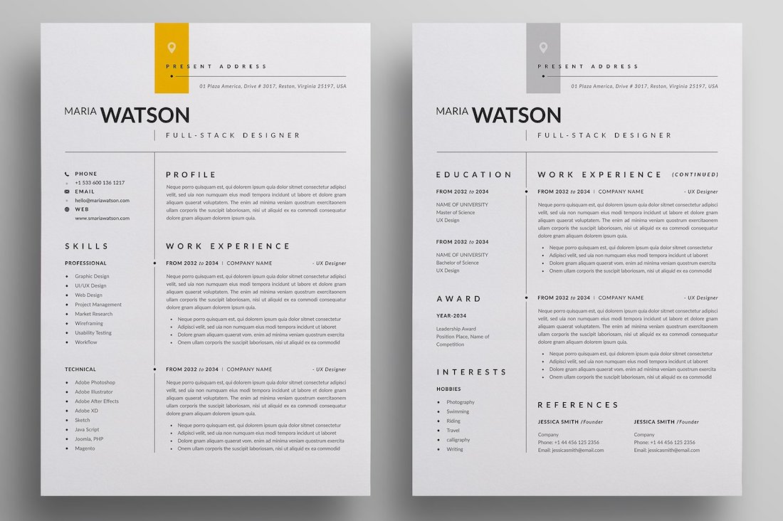 best free resume templates in and colorlib illustrator template cv different types of Resume Free Resume Illustrator Template
