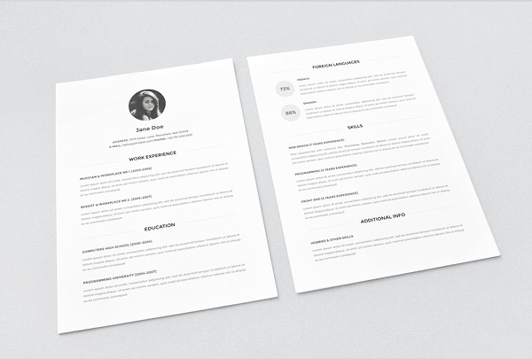 best free resume templates in word minimalist template new good example high school Resume Minimalist Resume Template Free Word