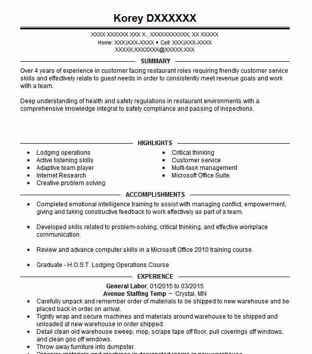 best general labor resume example livecareer summary salesforce administrator perfect job Resume General Labor Resume Summary Example