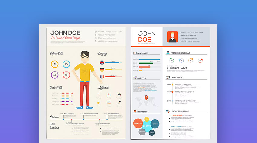 best infographic resume cv templates creative examples for simple template flat style Resume Simple Infographic Resume Template