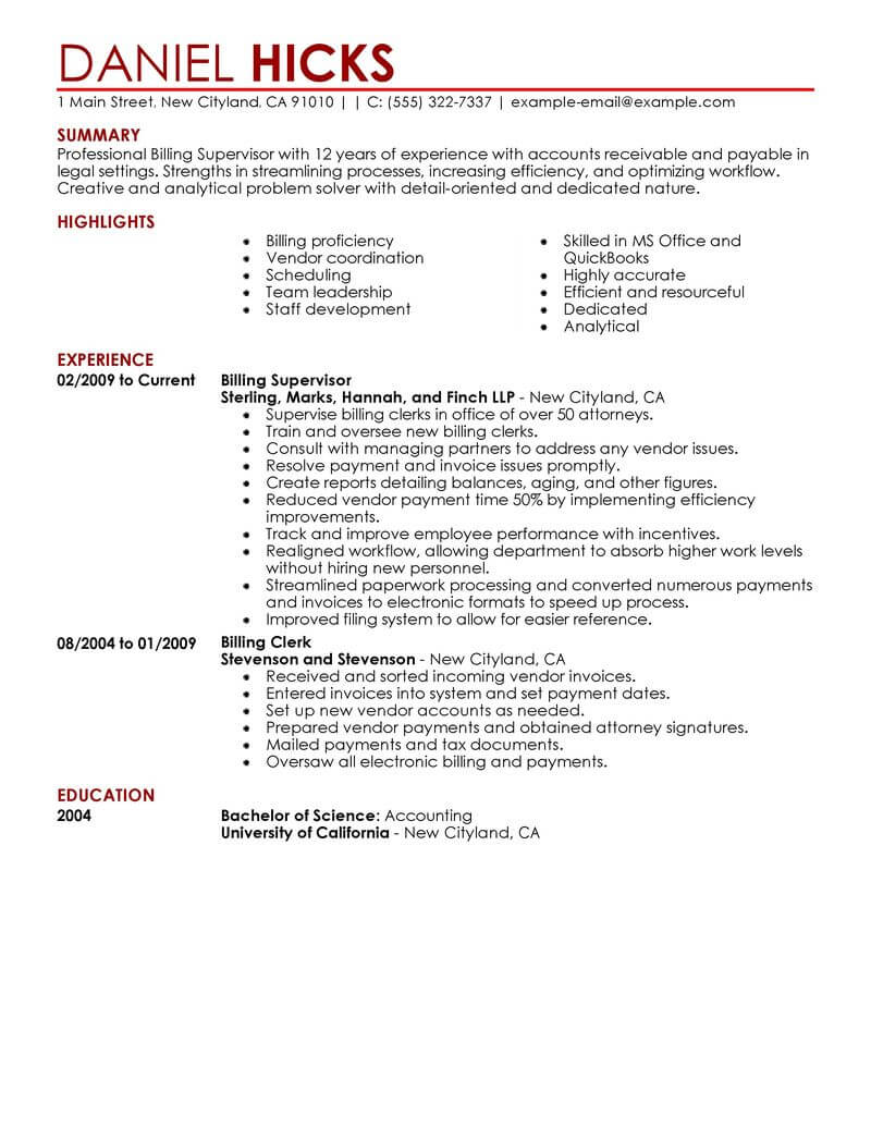best legal billing clerk resume example livecareer format for law students contemporary Resume Resume Format For Law Students