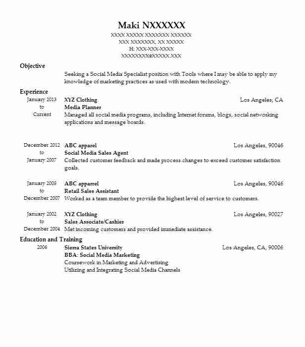 best media planner resume example livecareer objective for updated styles one job make Resume Objective For Media Resume