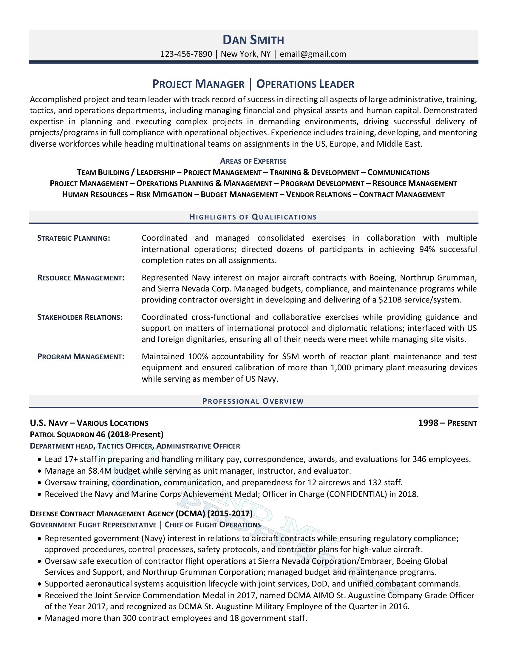 best military to civilian resume writing services for members profile portion of Resume Resume For Military Members