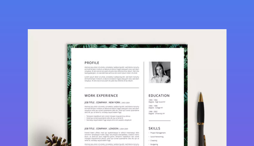 best photoshop resume cv templates photo formats for job template duties of hostess high Resume Resume For Photoshop Job