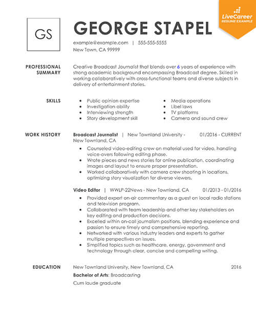 best resume formats of livecareer examples combinational thumb project coordinator Resume Best Resume Examples 2019