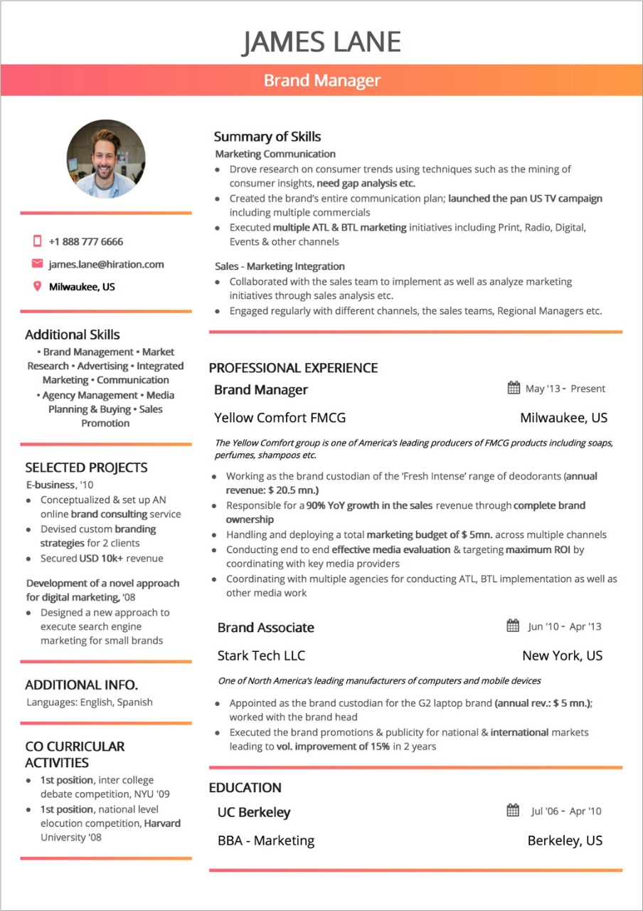 best resume layout guide with examples and samples two column format professional skill Resume Two Column Resume Format
